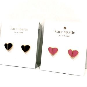 KATE SPADE Heritage spade small heart studs NWT
